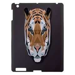 Tiger Face Animals Wild Apple Ipad 3/4 Hardshell Case by Alisyart