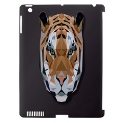 Tiger Face Animals Wild Apple Ipad 3/4 Hardshell Case (compatible With Smart Cover)