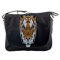 Tiger Face Animals Wild Messenger Bags