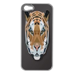 Tiger Face Animals Wild Apple Iphone 5 Case (silver)