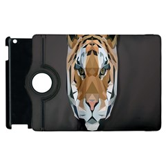 Tiger Face Animals Wild Apple Ipad 2 Flip 360 Case