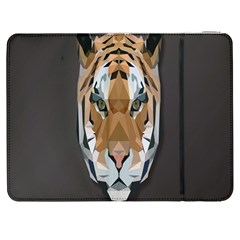 Tiger Face Animals Wild Samsung Galaxy Tab 7  P1000 Flip Case by Alisyart