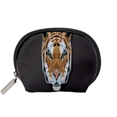 Tiger Face Animals Wild Accessory Pouches (small)