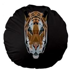 Tiger Face Animals Wild Large 18  Premium Flano Round Cushions