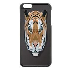 Tiger Face Animals Wild Apple Iphone 6 Plus/6s Plus Black Enamel Case