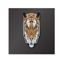 Tiger Face Animals Wild Small Satin Scarf (square) by Alisyart
