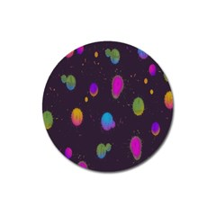 Spots Bright Rainbow Color Magnet 3  (round) by Alisyart