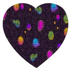 Spots Bright Rainbow Color Jigsaw Puzzle (heart) by Alisyart