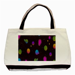 Spots Bright Rainbow Color Basic Tote Bag (two Sides)