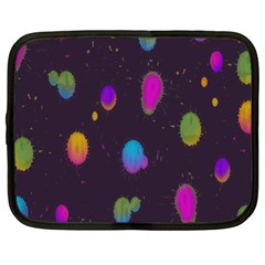 Spots Bright Rainbow Color Netbook Case (large)
