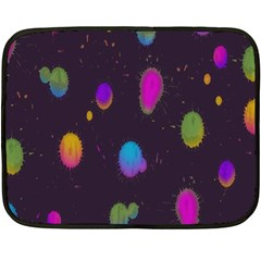 Spots Bright Rainbow Color Double Sided Fleece Blanket (mini)