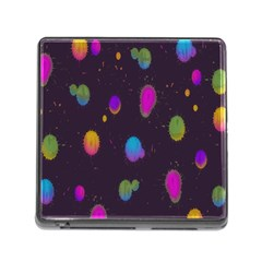 Spots Bright Rainbow Color Memory Card Reader (square)