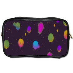 Spots Bright Rainbow Color Toiletries Bags 2 Side