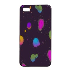 Spots Bright Rainbow Color Apple Iphone 4/4s Seamless Case (black)