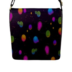 Spots Bright Rainbow Color Flap Messenger Bag (l)