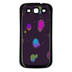 Spots Bright Rainbow Color Samsung Galaxy S3 Back Case (black)