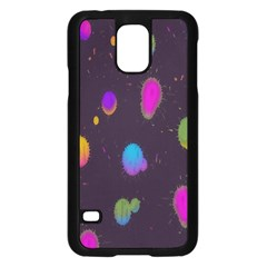 Spots Bright Rainbow Color Samsung Galaxy S5 Case (black)