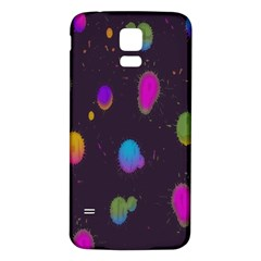 Spots Bright Rainbow Color Samsung Galaxy S5 Back Case (white)