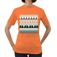 Triangle Wave Chevron Grey Women s Dark T Shirt