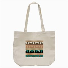 Triangle Wave Chevron Grey Tote Bag (cream)