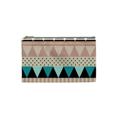 Triangle Wave Chevron Grey Cosmetic Bag (small)