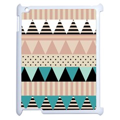 Triangle Wave Chevron Grey Apple Ipad 2 Case (white) by Alisyart