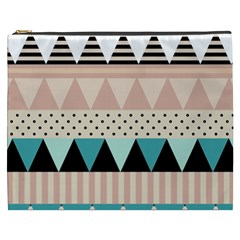 Triangle Wave Chevron Grey Cosmetic Bag (xxxl)