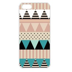 Triangle Wave Chevron Grey Apple Iphone 5 Seamless Case (white)