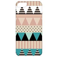 Triangle Wave Chevron Grey Apple Iphone 5 Classic Hardshell Case