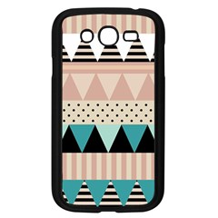 Triangle Wave Chevron Grey Samsung Galaxy Grand Duos I9082 Case (black)