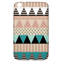 Triangle Wave Chevron Grey Samsung Galaxy Tab 3 (8 ) T3100 Hardshell Case  by Alisyart