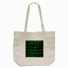 Ufo Alien Green Tote Bag (cream)