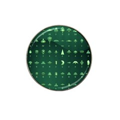 Ufo Alien Green Hat Clip Ball Marker (4 Pack)