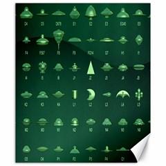 Ufo Alien Green Canvas 20  X 24