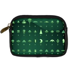 Ufo Alien Green Digital Camera Cases