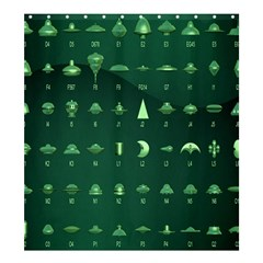 Ufo Alien Green Shower Curtain 66  X 72  (large)