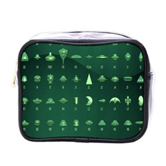 Ufo Alien Green Mini Toiletries Bags