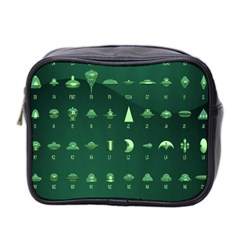 Ufo Alien Green Mini Toiletries Bag 2 Side