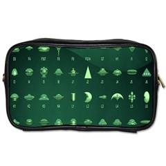 Ufo Alien Green Toiletries Bags 2 Side