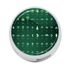 Ufo Alien Green 4 Port Usb Hub (one Side)