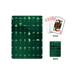 Ufo Alien Green Playing Cards (mini)