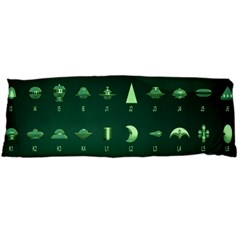 Ufo Alien Green Body Pillow Case Dakimakura (two Sides)