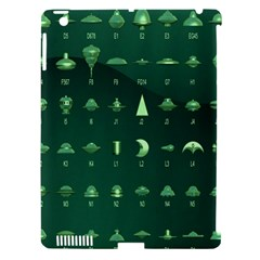 Ufo Alien Green Apple Ipad 3/4 Hardshell Case (compatible With Smart Cover)