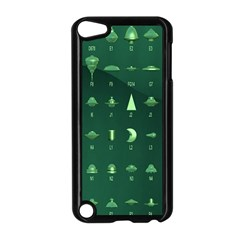Ufo Alien Green Apple Ipod Touch 5 Case (black)