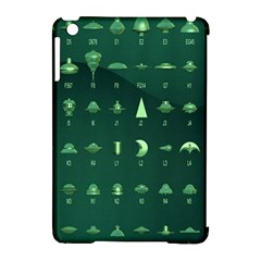 Ufo Alien Green Apple Ipad Mini Hardshell Case (compatible With Smart Cover)