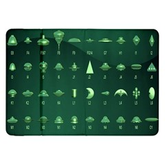 Ufo Alien Green Samsung Galaxy Tab 8 9  P7300 Flip Case