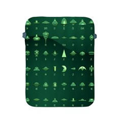 Ufo Alien Green Apple Ipad 2/3/4 Protective Soft Cases