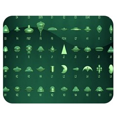 Ufo Alien Green Double Sided Flano Blanket (medium)  by Alisyart