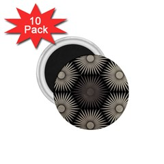 Sunflower Black White 1 75  Magnets (10 Pack)