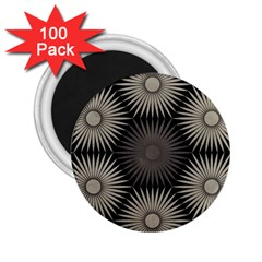 Sunflower Black White 2 25  Magnets (100 Pack)